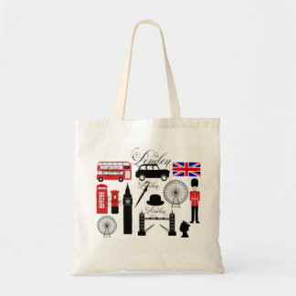 Modern London Great Britain icons vintage typo Tote Bag