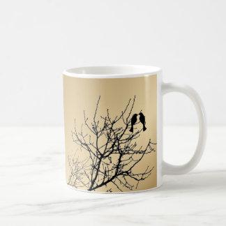 modern love birds rustic country wedding classic white coffee mug
