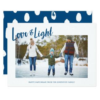 Modern Love & Light Photo Hanukkah Card