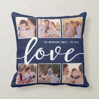 Modern Love Script Decorative Photo Throw Pillow