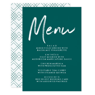 Modern Love | Wedding Menu Card