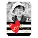 "Modern Love You Valentine's Day Photo Card 5"" X 7"" Invitation Card"