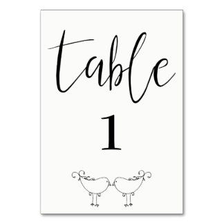Modern Lovebirds Table Card