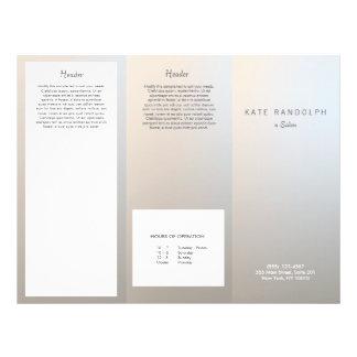 Modern Luminous Silver Salon Spa Brochure