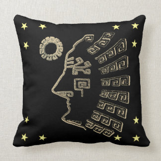 Modern Machu Picchu drawing Throw Pillow