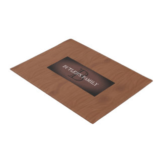 Modern Mahogany Red Wood Doormat