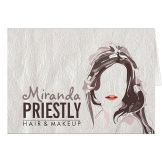 Modern Makeup Artist and Hair Stylist Beauty Salon Card