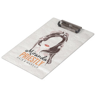 Modern Makeup Artist and Hair Stylist Beauty Salon Clipboard