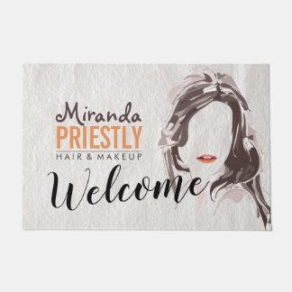 Modern Makeup Artist and Hair Stylist Beauty Salon Doormat