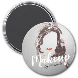 Modern Makeup Artist and Hair Stylist Beauty Salon Magnet