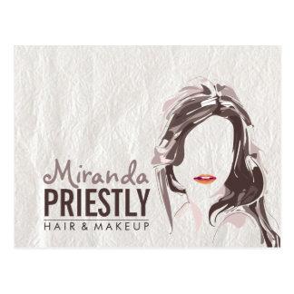 Modern Makeup Artist and Hair Stylist Beauty Salon Postcard