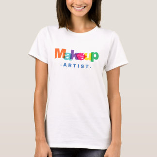 Modern Makeup Artist Typography Lips Beauty Salon T-Shirt