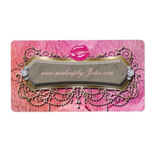 Modern Makeup Powder Hair Salon Label
