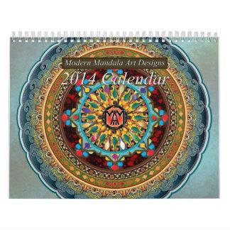 Modern Mandala Art Designs 2014 Calendar