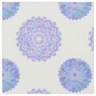 Modern Mandala Pattern / Blue Purple design Fabric