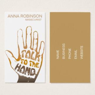 Modern Manicurist Nail Art Business Card