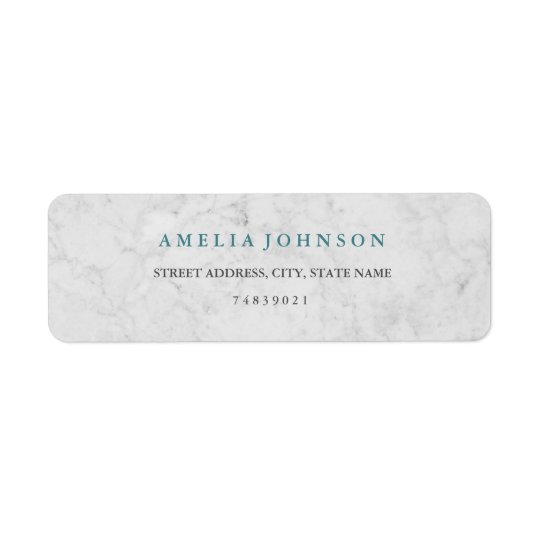 Modern Marble Blue Address Label