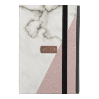 Modern Marble Faux Blush Pink Leather iPad Mini 4 Case