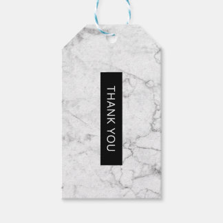 Modern marble favor tag pack of gift tags