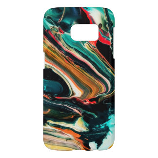 Modern Marble Like Colorful Background Samsung Galaxy S7 Case