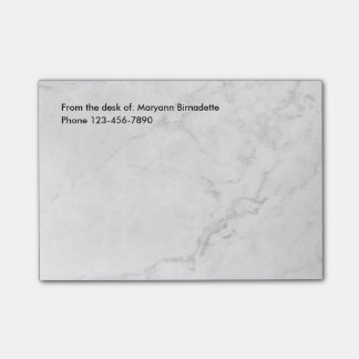 Modern Marble Look Post-it® Notes