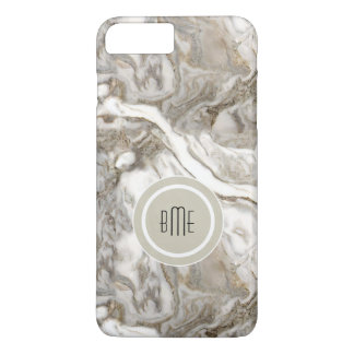 Modern Marble Monogram iPhone 7 Plus Case