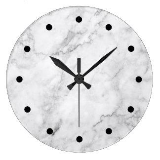 Modern Marble Stone Pattern Large Clock