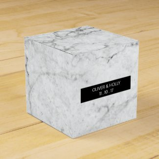Modern marble wedding favour box