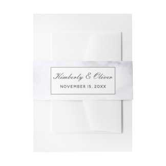 Modern Marble Wedding Invitations Invitation Belly Band