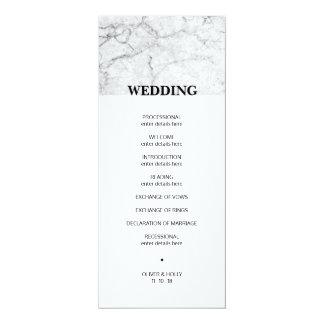 Modern marble wedding program