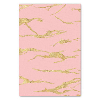 Modern marble with faux gold tissue paper