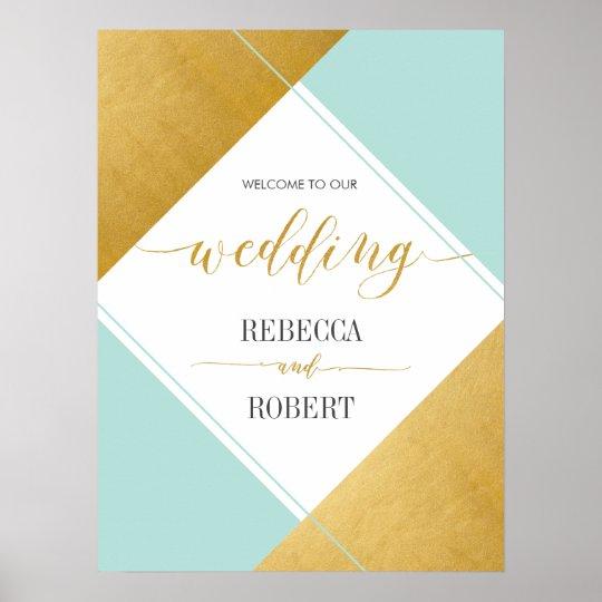 Modern Married Wedding Poster