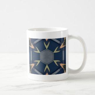 Modern Masculine Geometrical Symmetry Pattern Coffee Mug