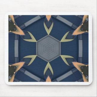 Modern Masculine Geometrical Symmetry Pattern Mouse Pad