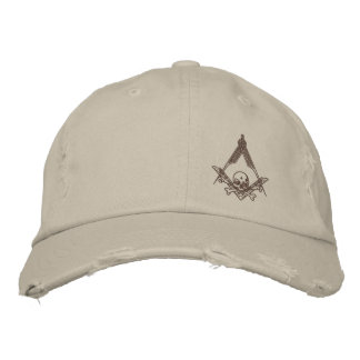 Modern Master Mason distressed hat Embroidered Hat