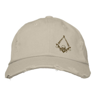 Modern Master Mason embroidered distressed hat Embroidered Hats