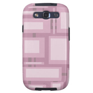 Modern Mauve Abstract Samsung Galaxy S3 Cover
