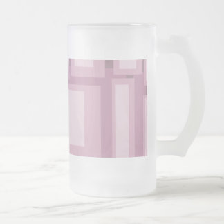 Modern Mauve Abstract Frosted Glass Mug