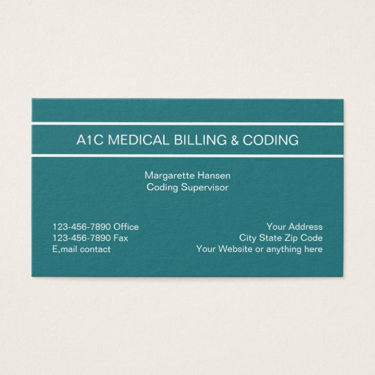 Modern Medical Billing And Coding Business Card