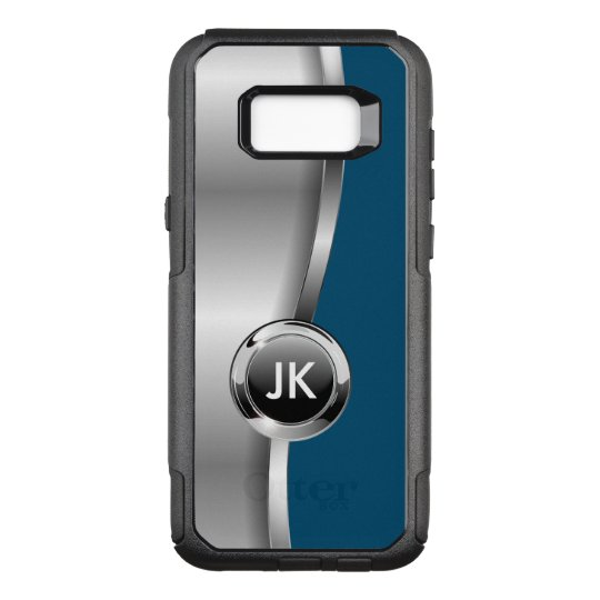 Modern Mens Cool Monogram OtterBox Commuter Samsung Galaxy S8+ Case