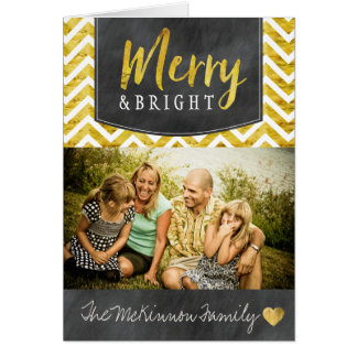 Modern Merry and Bright Holiday Photo Cards