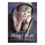"Modern Merry & Bright Holiday Two Photo Card 5"" X 7"" Invitation Card"