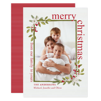 Modern Merry Christmas | Colors of the Season Card
