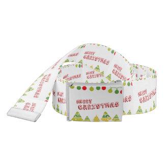 Modern Merry Christmas Design Belt