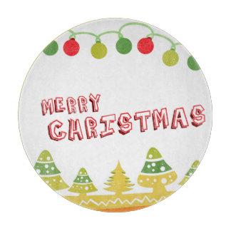 Modern Merry Christmas Design Cutting Board