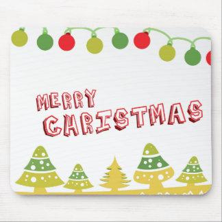 Modern Merry Christmas Design Mouse Pad