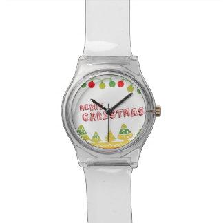 Modern Merry Christmas Design Watch