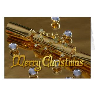 Modern Merry Christmas Gold Greeting Card