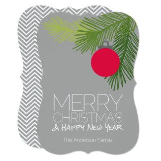 Modern Merry Christmas Ornaments - Non-photo Card