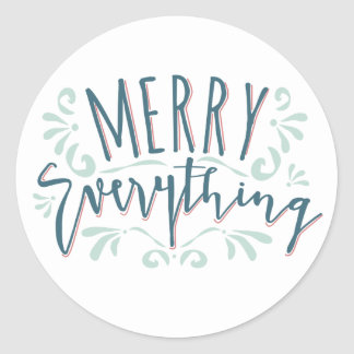 Modern Merry Everything Brush Swirl Sticker